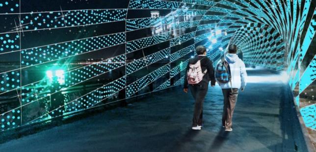 Работы по оформлению световой арки на столичной набережной будут завершены до 10 июня